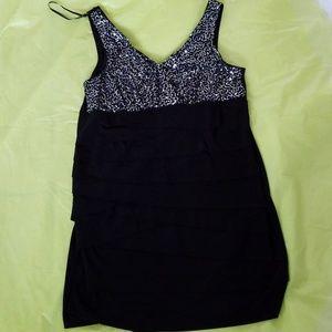 B. SMART black & sequin dress